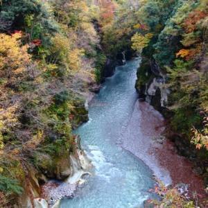 手取り峡谷秋景