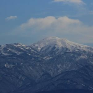手取川河口から見る白山山系