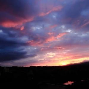 犀川石切り坂から見る夜明け