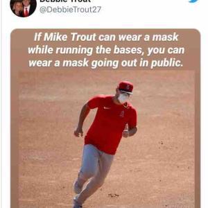 トムハンクスもマイク・トラウトの母ちゃんも常識人でマスク推奨派♪