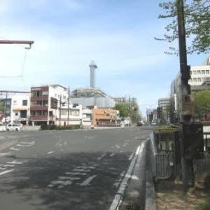 番町線の電停 (岡山市内路面電車・番町線)