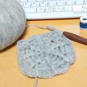【編み始め】リーフ柄ベレー帽