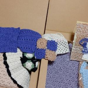 手編み作品を断捨離。