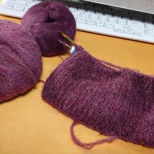 zoom編み会。