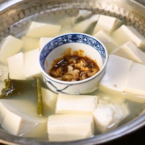 湯豆腐を毎日頂いていて、今日は朝から湯豆腐です