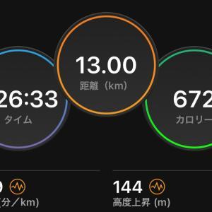 13kmジョグ