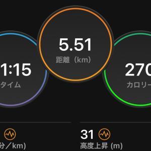 時短ジョグ5km