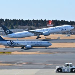 スカイチーム塗装の大韓航空Boeing737-800、そして護衛艦いずもとみなとみらい