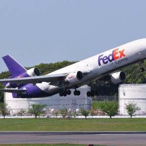 ドッカッツ~~ンと出発!FedExxのMD-11Fそして揺らぐみなとみらいのランドマークタワー