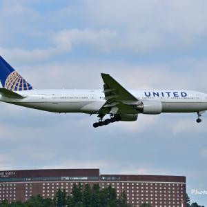 ユナイテッド航空のBoeing777-200ERが成田空港RWY16Rへ到着です。そしてリトープスの開花