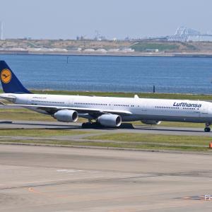ミュンヘンからのルフトハンザがAirbus A340-600で来てくれました。そして沖縄首里の識名園