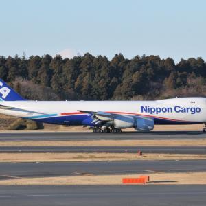 NCA最初のBoeing747-8Fが成田空港RWY34Lに到着しました。そして、横浜の奥庭三渓園にて