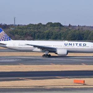 グアムからユナイテッド航空のBoeing777-200が到着です。そして山手西洋館外交官の家のテーブル装飾