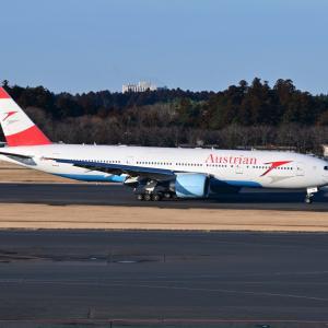 オーストリア航空のBoeing777-200ERがウィーンから到着しました。そして、横浜港山下ふ頭にて