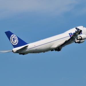 カックイイ、青ポーラーのBoeing747-400F、そしてみなとみらいのよこはまコスモワールド
