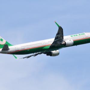 EVA AIRのAirbus A321-200が気持ちよさそうに成田空港を出発しました。そして白駒池の入り口にて