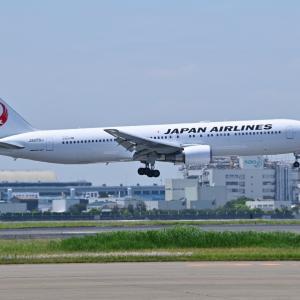 羽田JAL整備場ハンガーから着陸機を激写する📷、そして横浜市開国記念会館