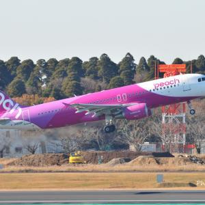 ピーチのAirbus A320-200がTake off、そして横浜港内遊覧船ロイヤルウィング号