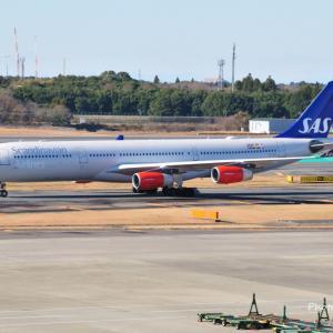 白鼻スカンジナビア航空SK983便が到着です。そしてみなとみらい汽車道の港二号橋梁