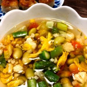 秘伝ハッピー豆!圧力鍋で5分。戻し汁でスープ