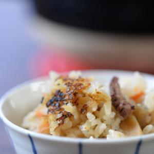 長谷園の土鍋でタコ飯!キャベツのリンゴ酢煮