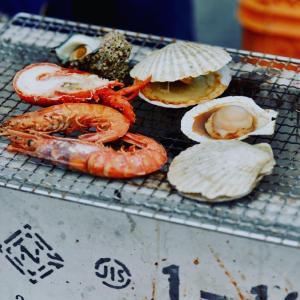 好きな海鮮を買ってその場で焼ける!泉南ロングパーク