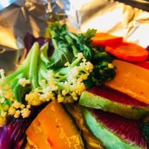野菜が美味しい千陽のベジ玉〜若ごぼうとふきのとう味噌