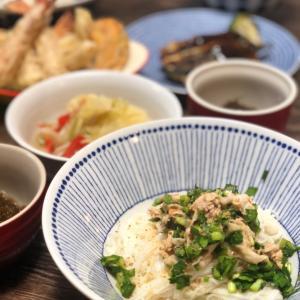 子供達のお助けご飯〜リュウジのニラ豚そうめんと野菜いっぱいスープ