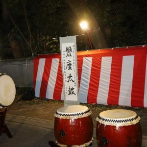 令和三年元旦。「磐座太鼓」三島神社奉納初打ち。