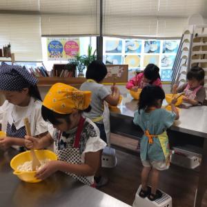 幼稚園のお子さまから楽しめるパン教室 キッズパンの会レーズンパンを作りました。