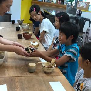 江戸川区船堀 けさらんぱさらん 夏休みイベント キッズお茶の会 午後の会開催しました。