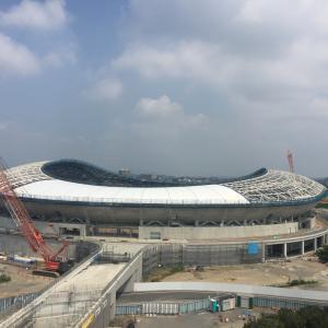 栃木県新スタジアム建設中