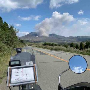 噴煙上げてる阿蘇山をかすめるカブツーリング DOA八ヶ岳まであと二週間!ちょこっと準備