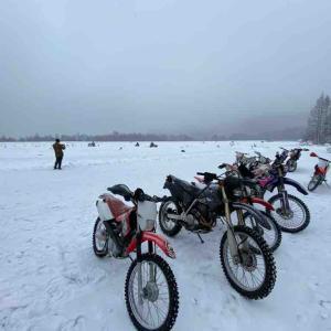 新春初滑り バイクで氷上走行会'20  in 八千穂レイク