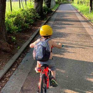 3歳のセガレ、 自転車で大転倒。 しかしそこから得るもの 自己防衛(自己責任)の感覚