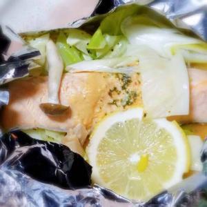 北海道旅行の気分で、鮭のチャンチャン焼き