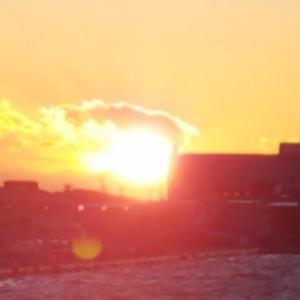 釧路の夜、じゃなかった、夕日の美しさに心奪われて