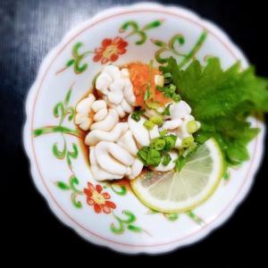 季節限定珍味、鱈の白子のポン酢