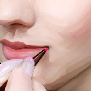 """唇に魅せられて """" Fascinated by a lip. """""""