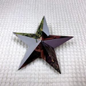 ☆立体の折り紙星と穴あけパンチ☆