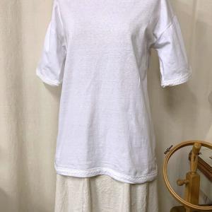 ☆戴きものの白のTシャツを楽しんで着る☆