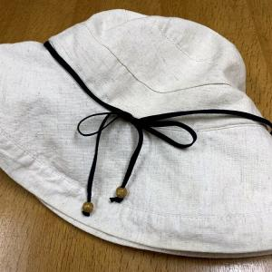 ☆夏の帽子のアクセントテープの付け替え☆