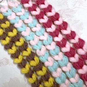 ☆ハート模様の編み編みブレード☆