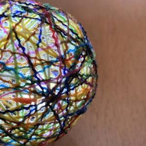 ☆風船に毛糸や糸を巻き巻き・ストリングボール作りのコツ☆