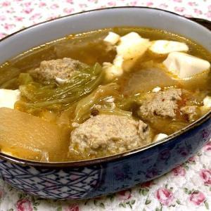☆鶏挽団子入りスープ☆