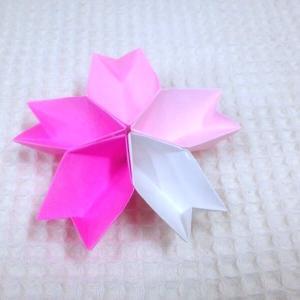 ☆桜の花の形の器・折り紙☆