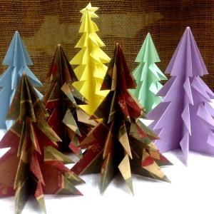 ☆折り方・折り紙の簡単クリスマスツリー☆