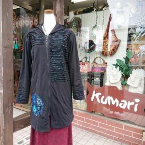 入荷☆蓮花刺繍ロングジャケット