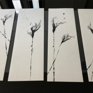 """オーダー作品""""flower Lily""""のモダンインテリア書"""