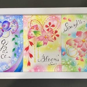 6/30*7/1開催『花かんざしのパステリア書講座』みんなの作品